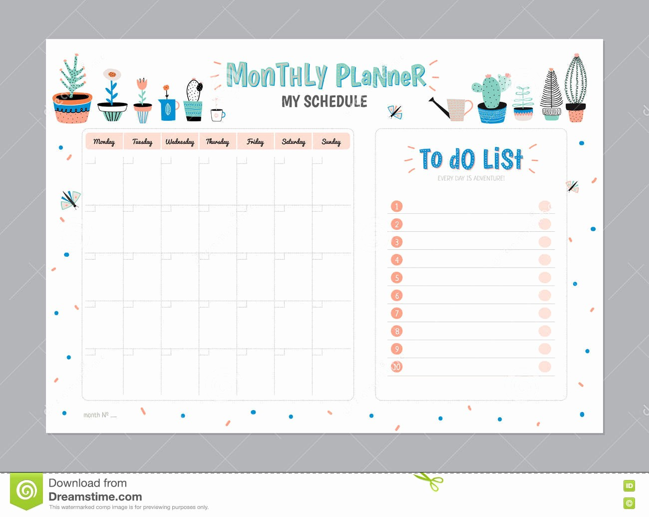 To Do List organizer Template Awesome Scandinavian Weekly and Daily Planner Stock Vector