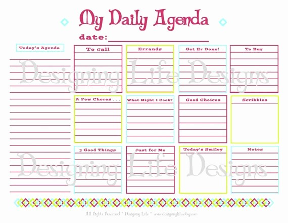 To Do List organizer Template Best Of Items Similar to Daily Agenda Printable Daily Planner