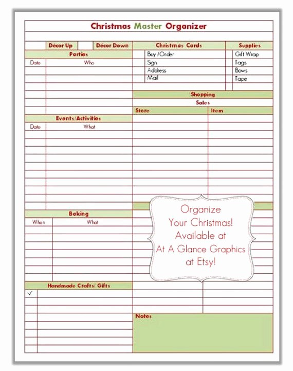 To Do List organizer Template Inspirational Christmas organizer form to Do List 8 5x11 Printable