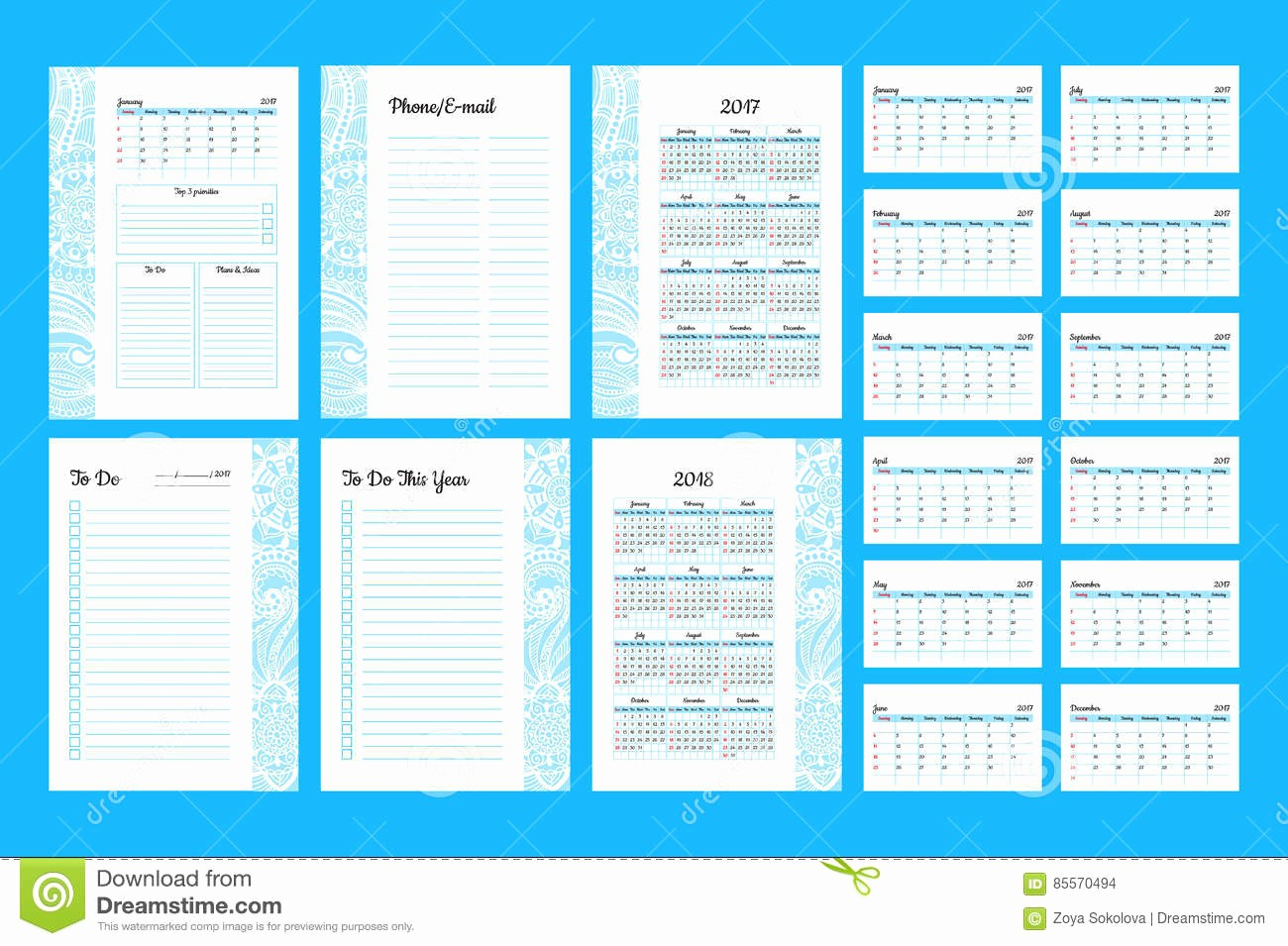 To Do List organizer Template Inspirational Weekly Planner Template organizer and Schedule with Notes