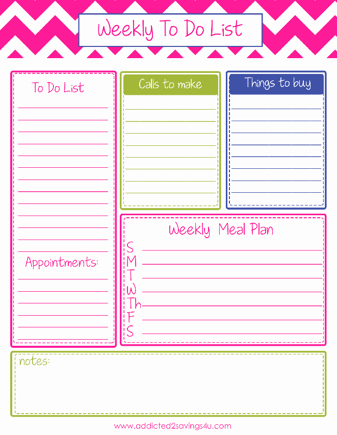 To Do List organizer Template Lovely to Do List Planner