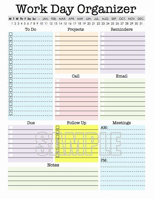 To Do List organizer Template New Work Day organizer Planner Page Work Planner Printable