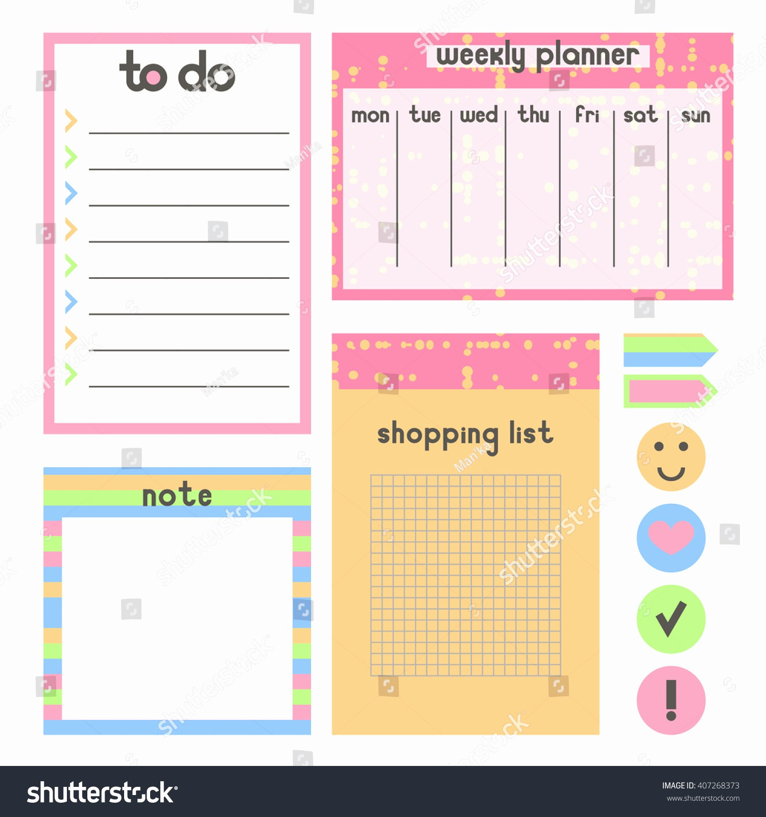 To Do List organizer Template Unique Template organaizer Notebook Planner Do List Stock Vector
