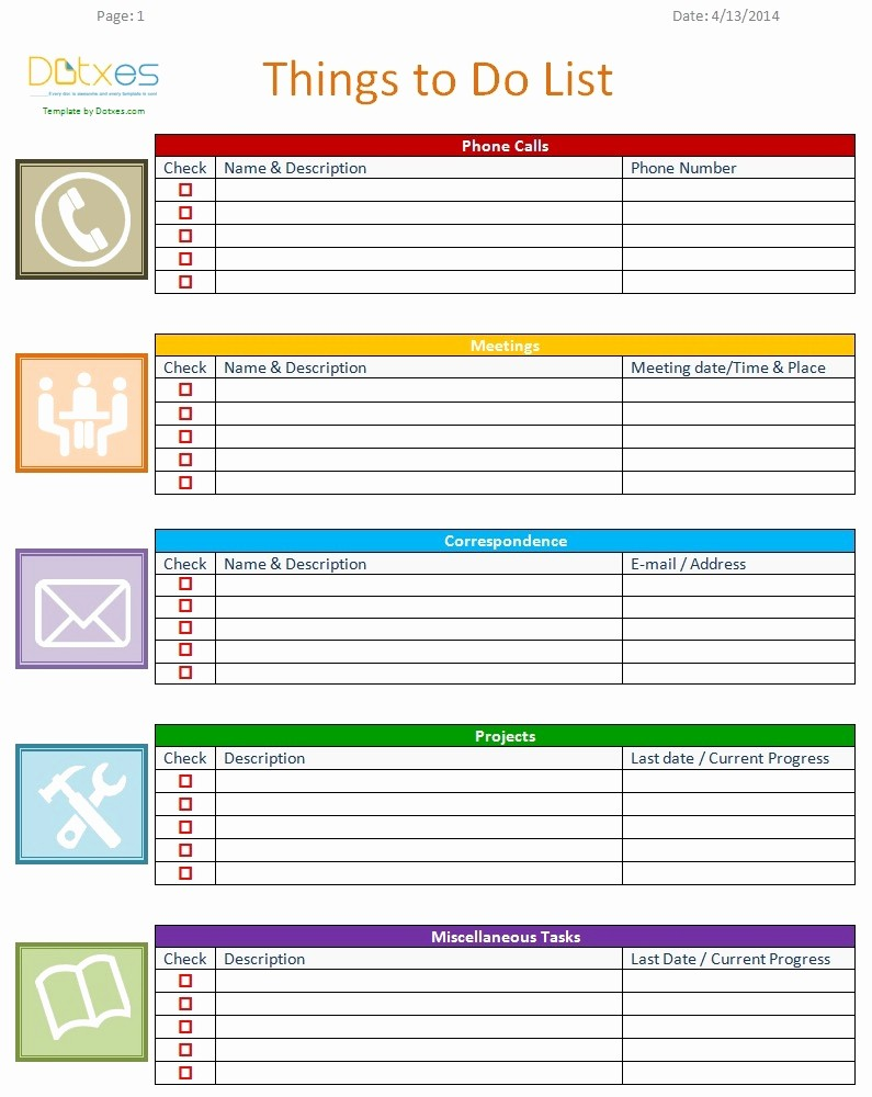To Do List Templates Excel Best Of Fice to Do List Template Excel