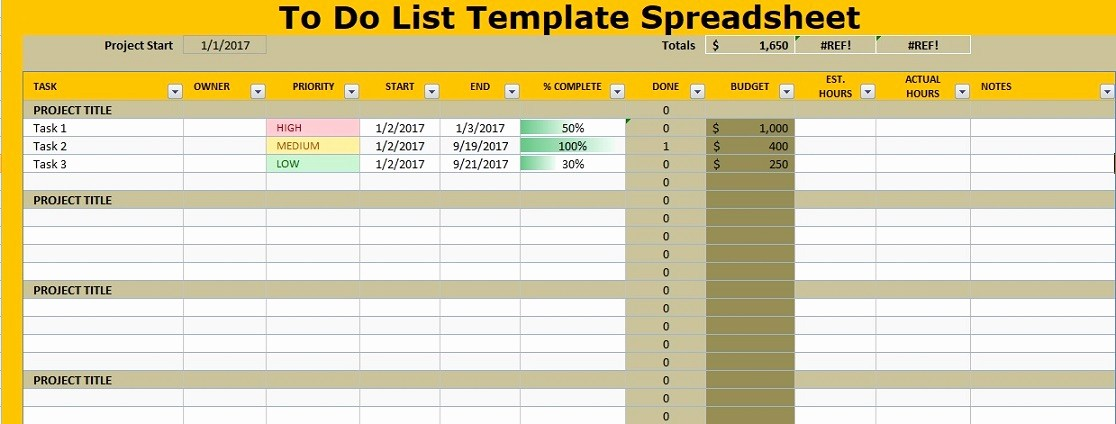 To Do List Templates Excel Elegant to Do List Template Spreadsheet Excel