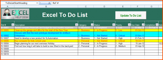 To Do List Templates Excel Fresh 8 Excel to Do List Template Bookletemplate