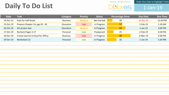 to do list excel template 181