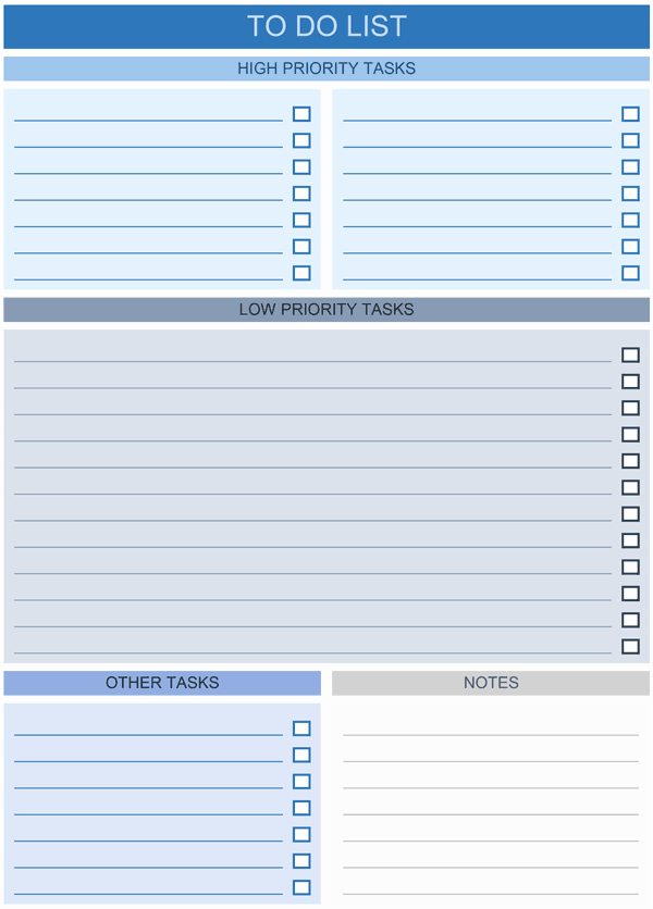 To Do List Templates Excel Unique to Do List Templates for Excel