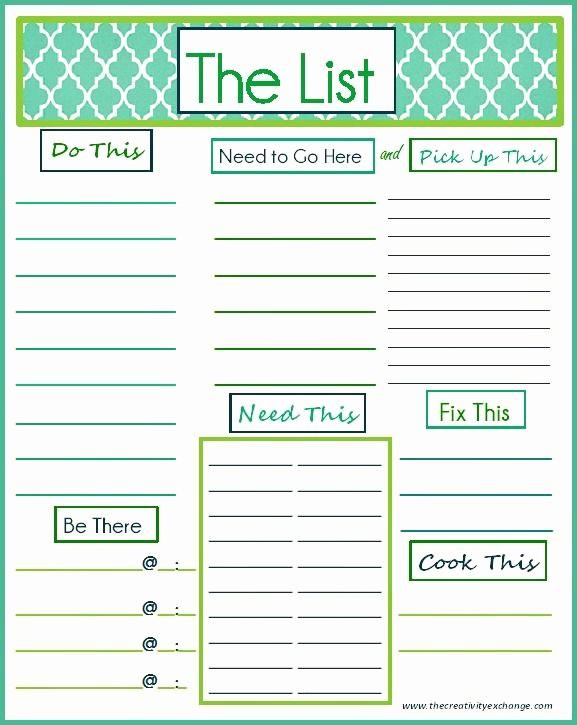 "To Do List Templates Printable Beautiful Free Printable ""to Do"" List Printables"