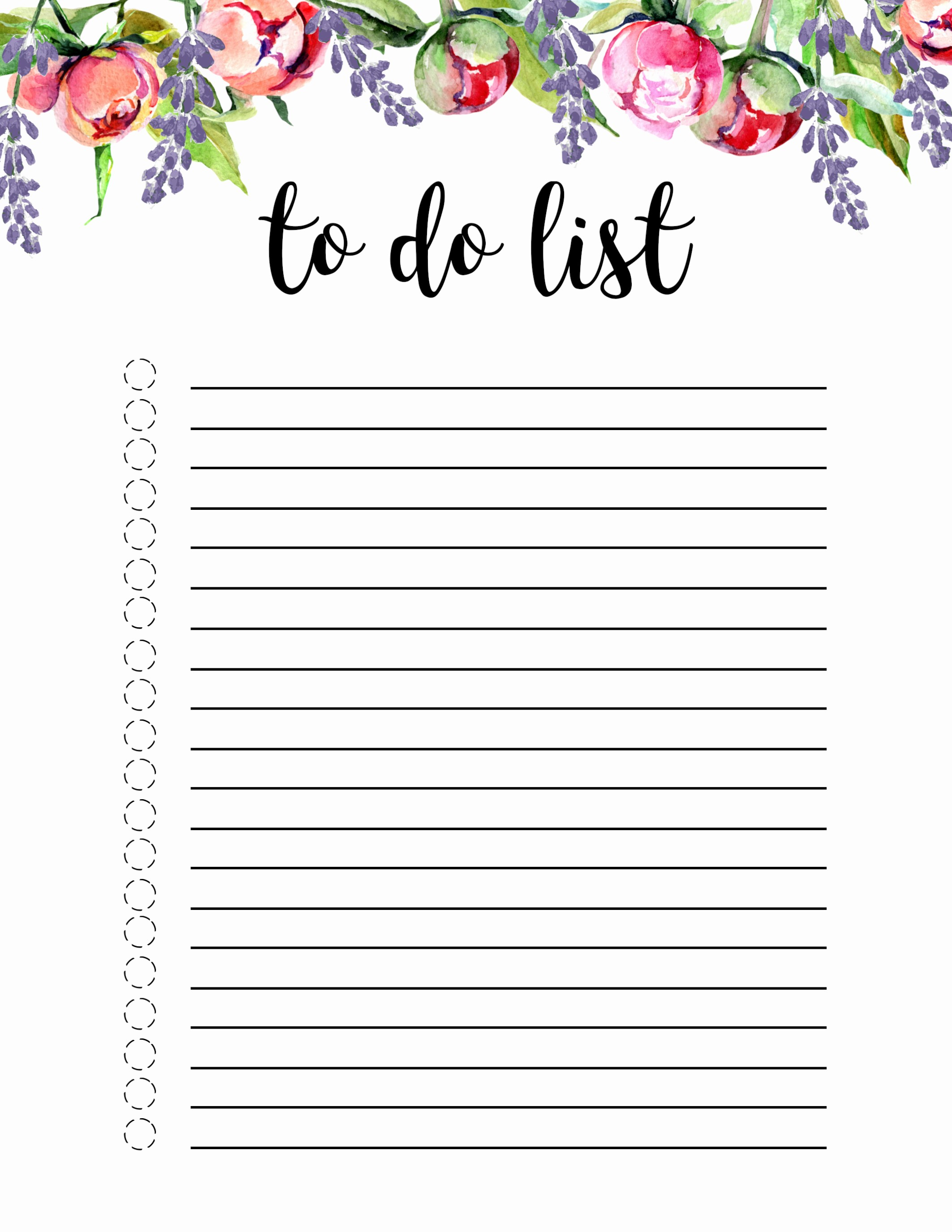 To Do List Templates Printable Luxury Floral to Do List Printable Template Paper Trail Design