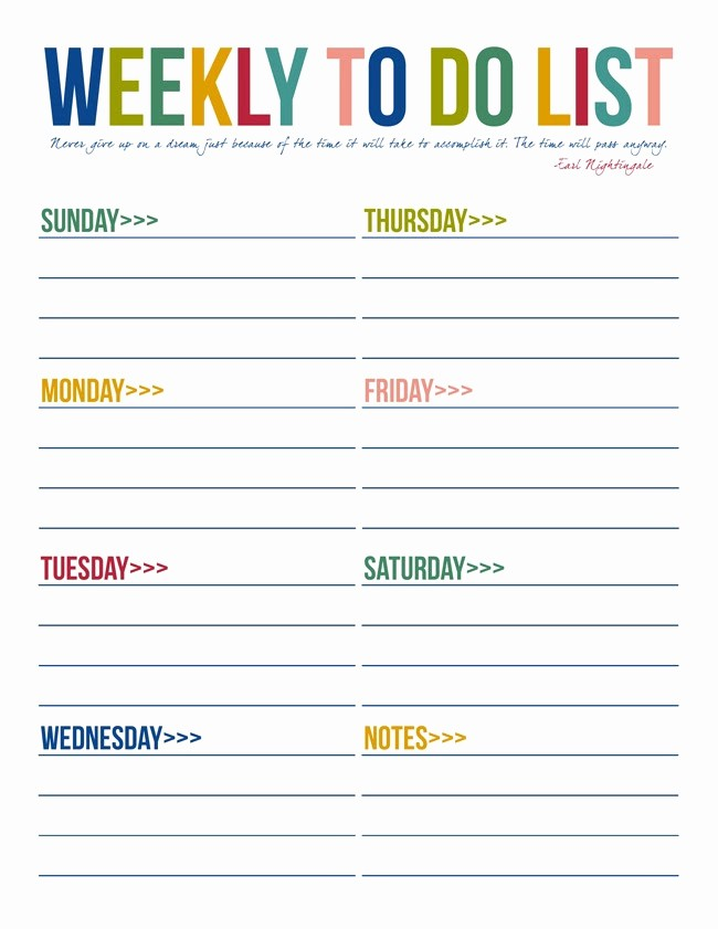To Do List Weekly Template Inspirational 40 Printable to Do List Templates