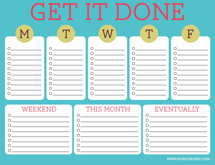 To Do List Weekly Template Inspirational organization and Time Management Part 2 Make A to Do List