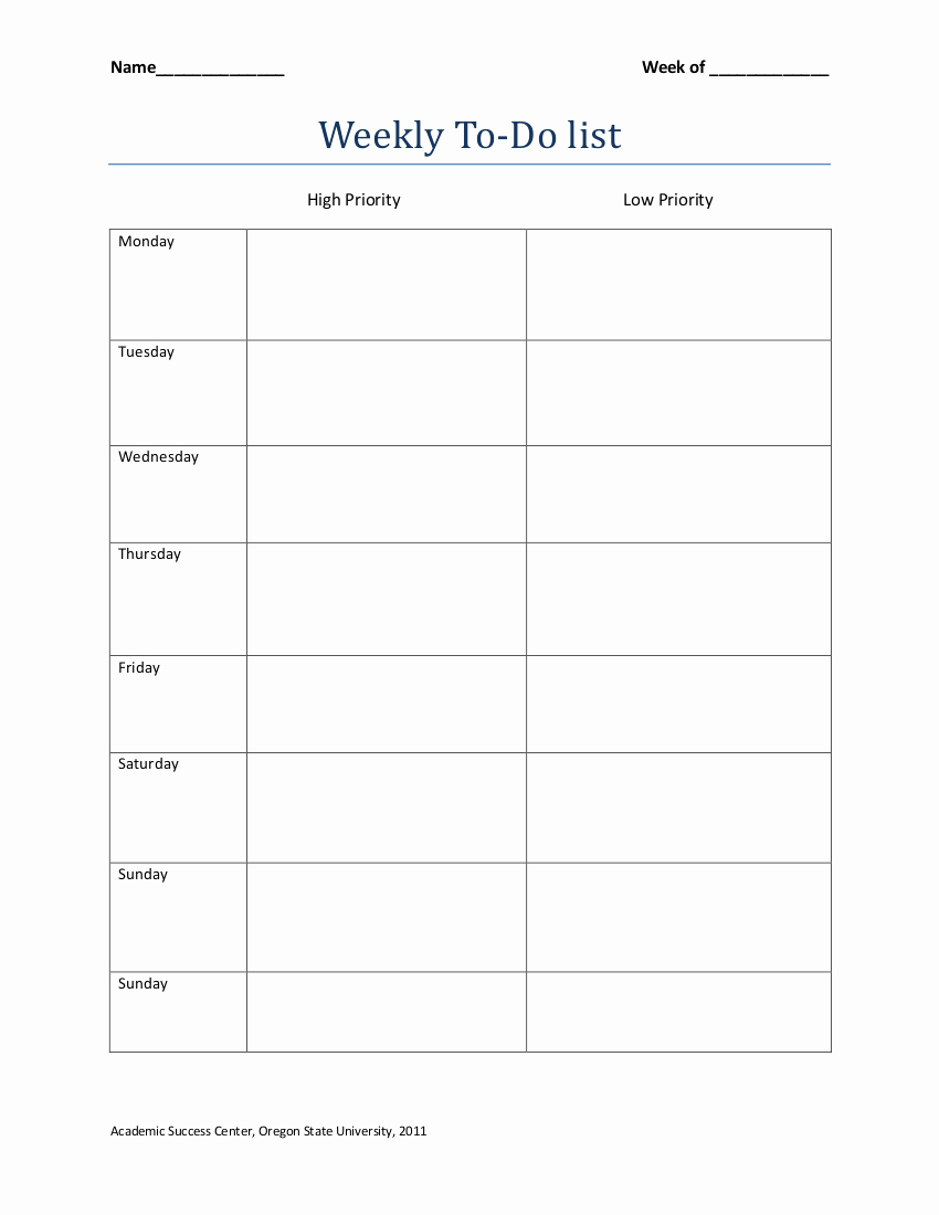 To Do List Weekly Template Luxury 19 to Do List Templates and Examples – Pdf