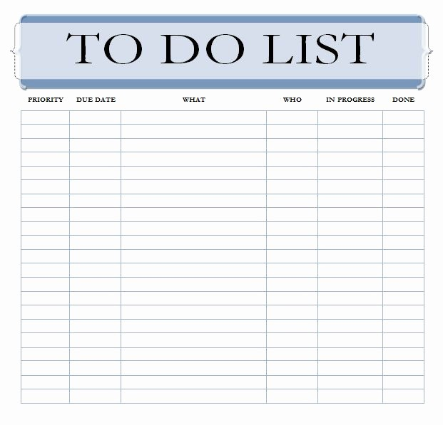 To Do List Word Doc Beautiful Editable to Do List Template