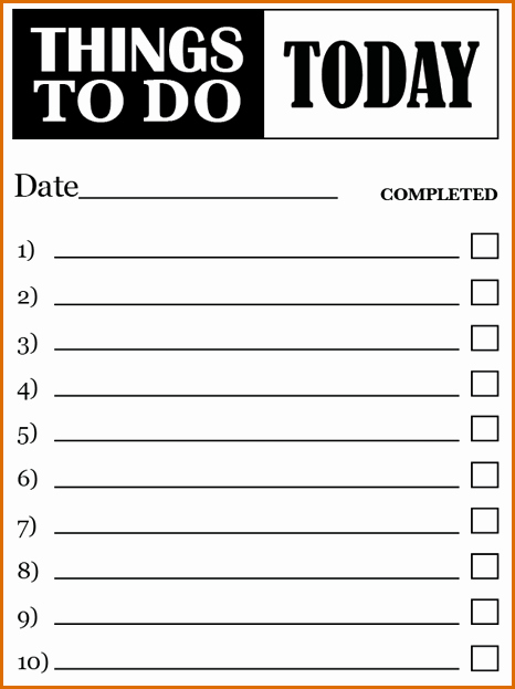 To Do List Word Doc Unique 7 to Do Lists Templates