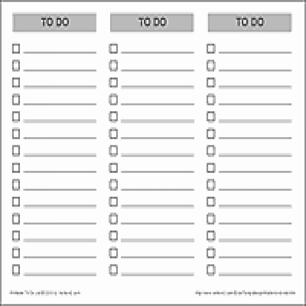 To Do Task List Template Inspirational to Do List Pdf