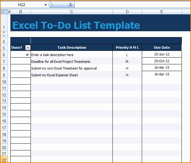 To Do Task List Template Lovely 5 Excel Task List