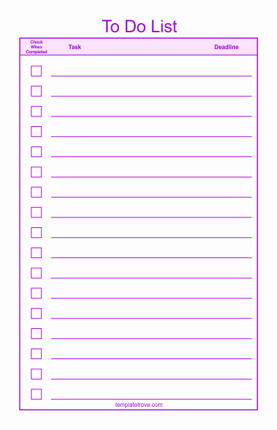 To Do Task List Template Lovely to Do Checklist Template 2