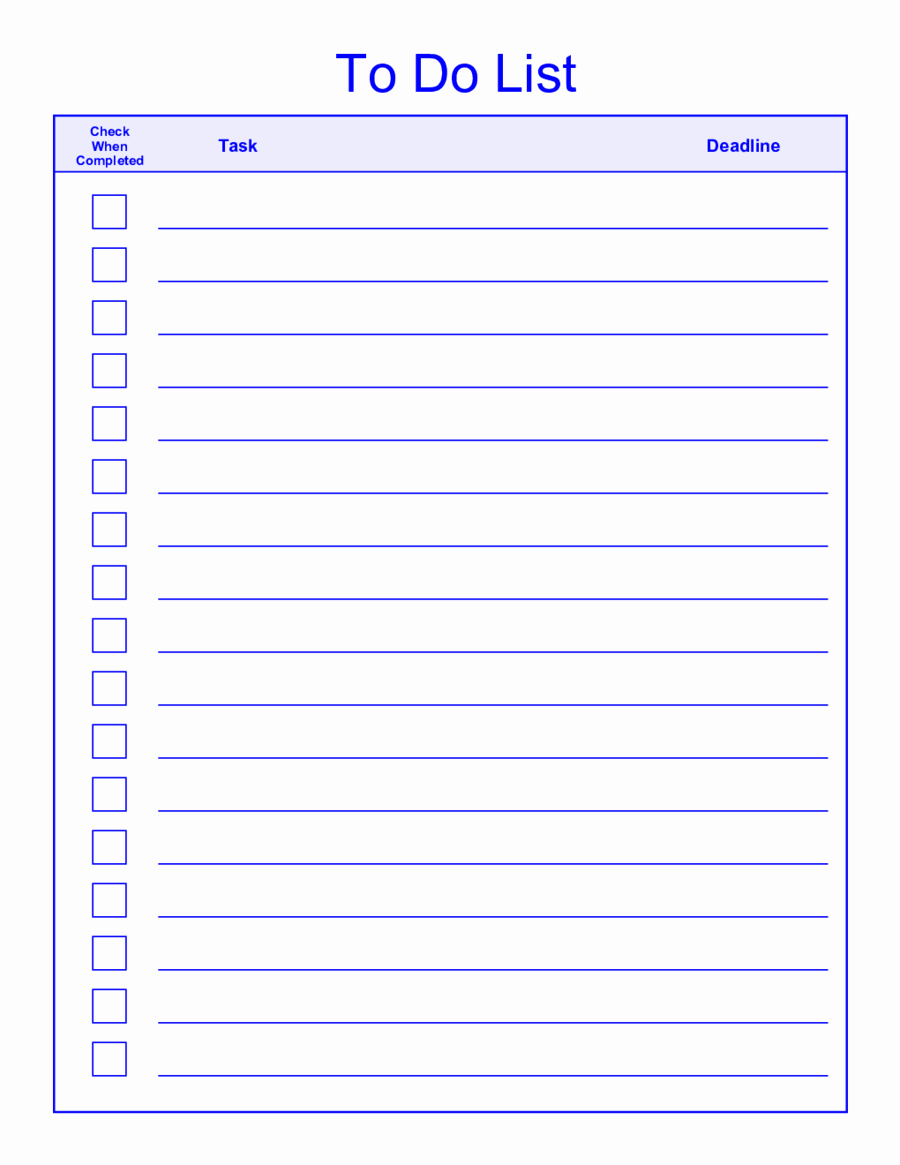 Today to Do List Template Beautiful Printable to Do List Templates