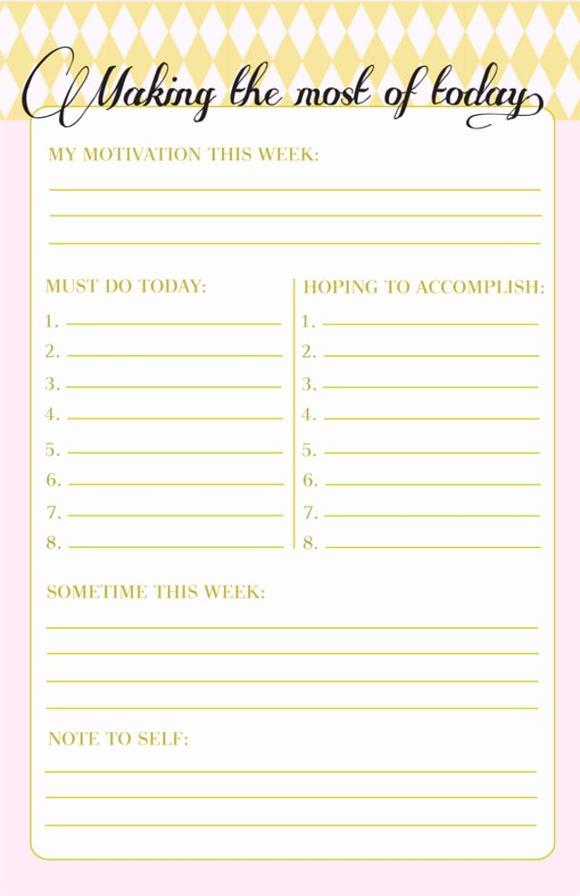 Today to Do List Template Elegant 10 to Do Lists as Pretty as they are Useful