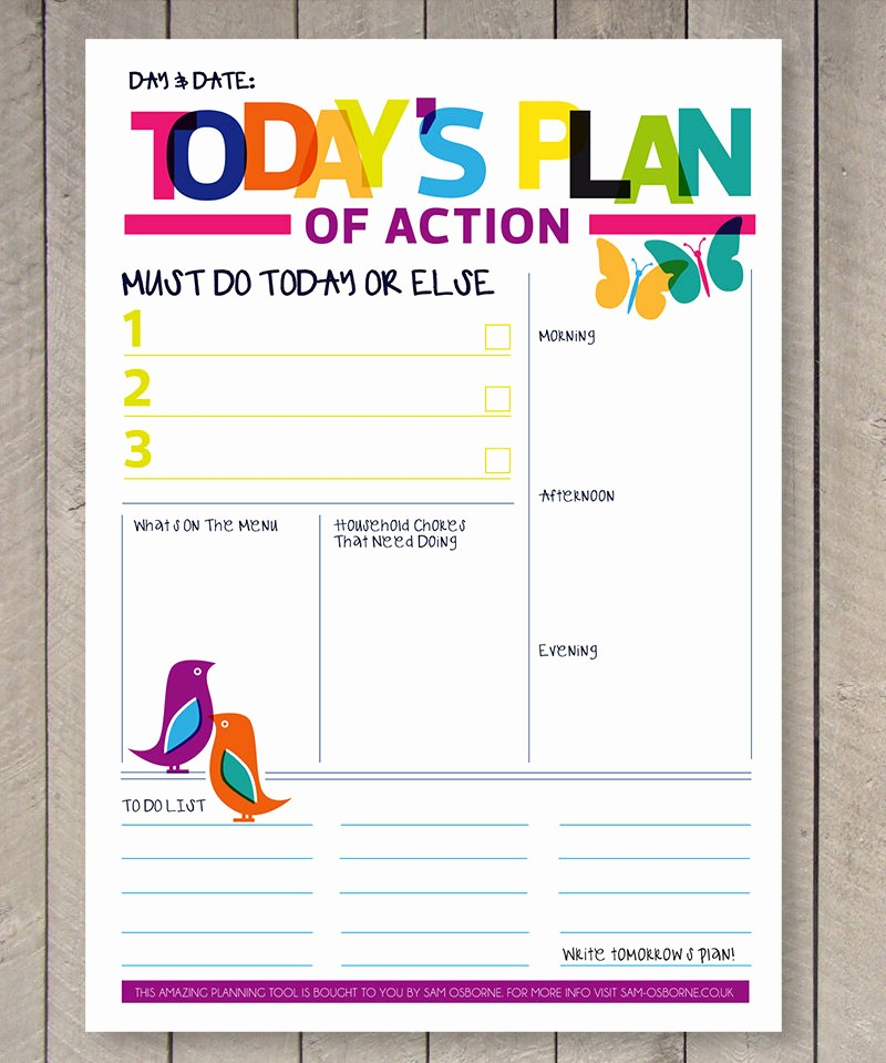 Today to Do List Template Elegant Printable Planner Daily to Do List Family organiser Rainbow
