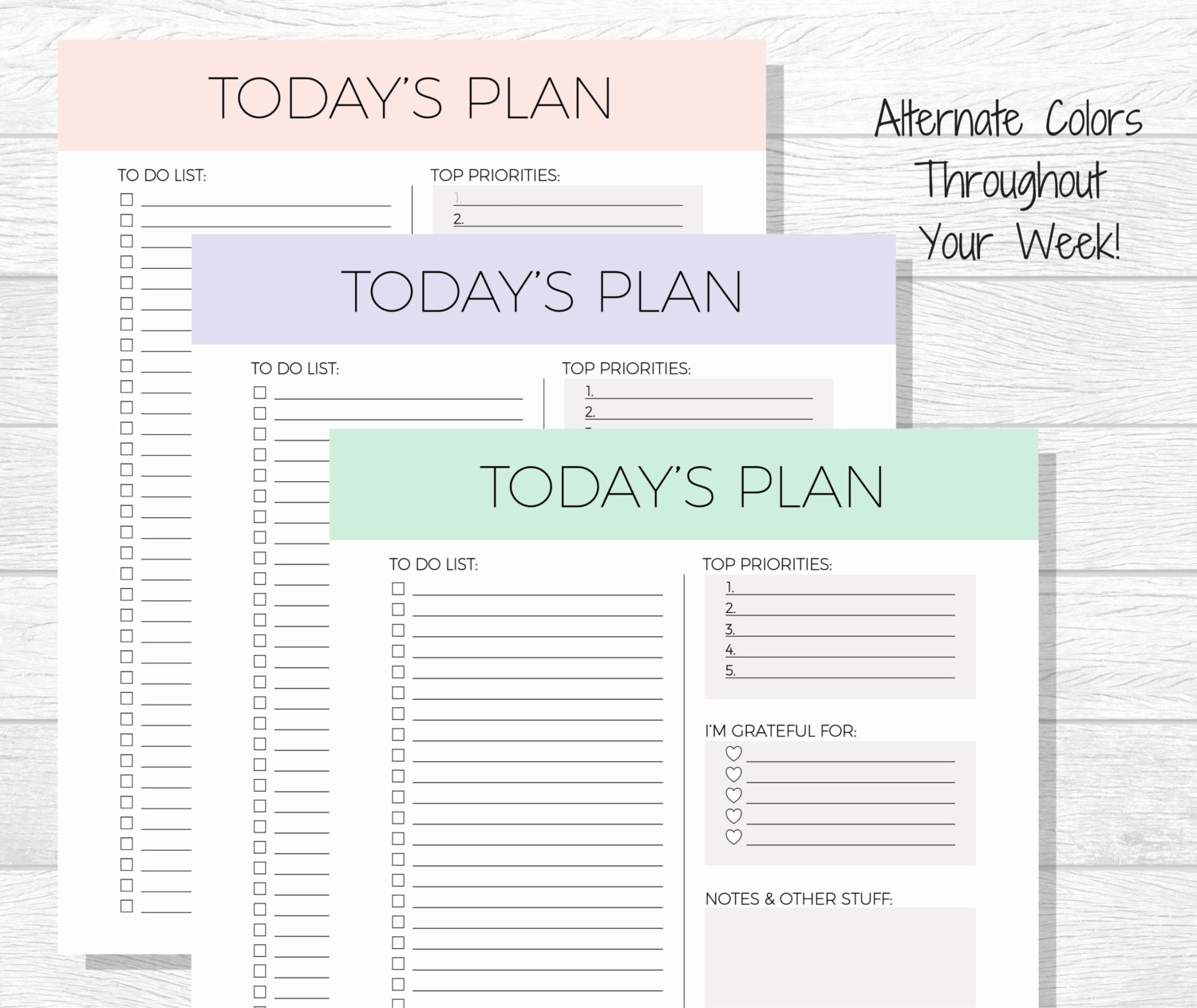 Today to Do List Template Unique Daily Planner Printable today S Plan Daily Schedule
