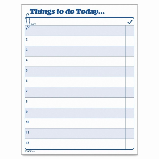 Today to Do List Template Unique Printer