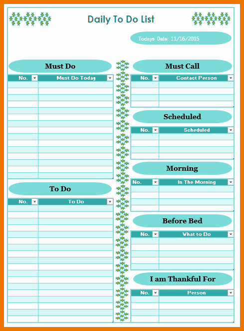 Today to Do List Template Unique Things to Do today List Template Ozilmanoof