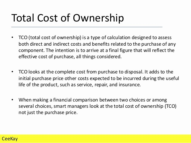 Total Cost Of Ownership Calculations Best Of total Cost Of Ownership