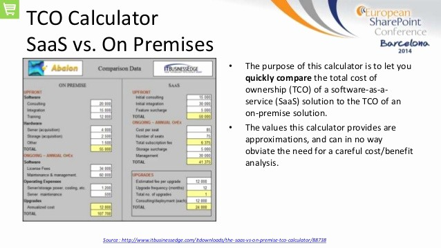 Total Cost Of Ownership Calculations Fresh Espc14 T18 Your Point In the Cloud or Not that is