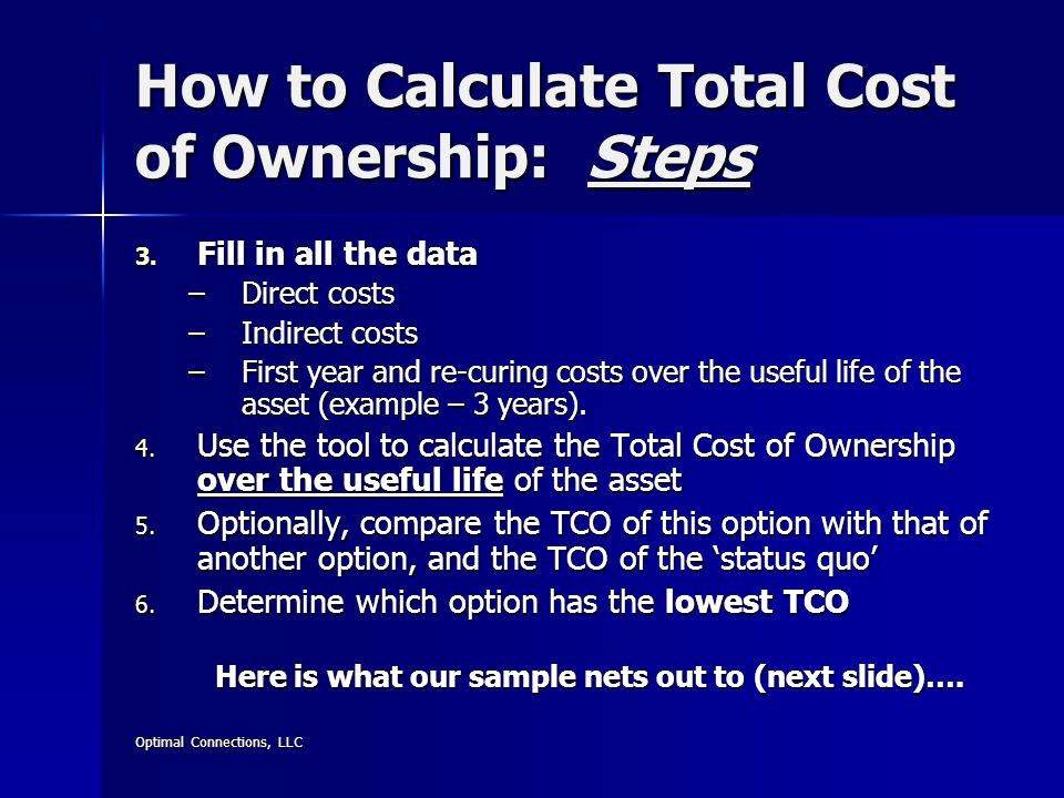 Total Cost Of Ownership Example Beautiful Easy to Use Financial tools for Effective Decision Making