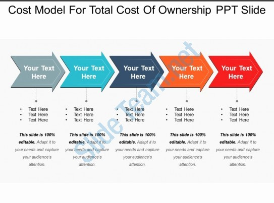 Total Cost Of Ownership Example Unique Cost Model for total Cost Ownership Ppt Slide