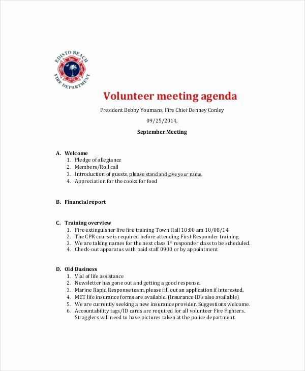 Town Hall Meeting Agenda Template Beautiful Meeting Agenda Template Free Word Documents Download