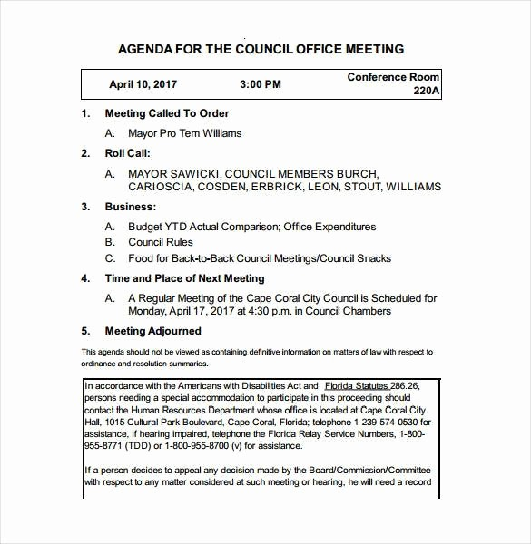 Town Hall Meeting Agenda Template Best Of 50 Meeting Agenda Templates Pdf Doc