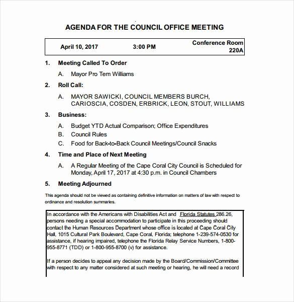 Town Hall Meeting Agenda Template Best Of 50 Meeting Agenda Templates Pdf Doc