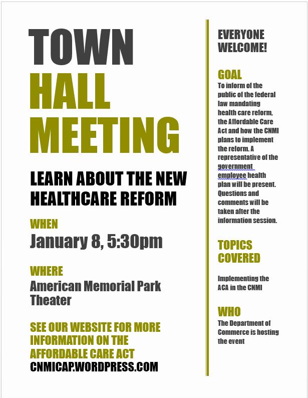 Town Hall Meeting Agenda Template Inspirational Cnmi Consumer assistance Program