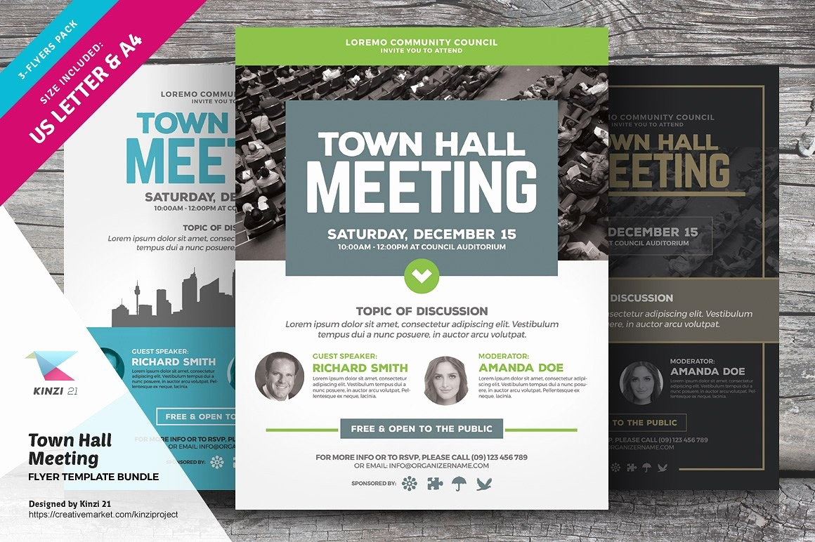 Town Hall Meeting Agenda Template Lovely town Hall Meeting Flyer Bundle Flyer Templates