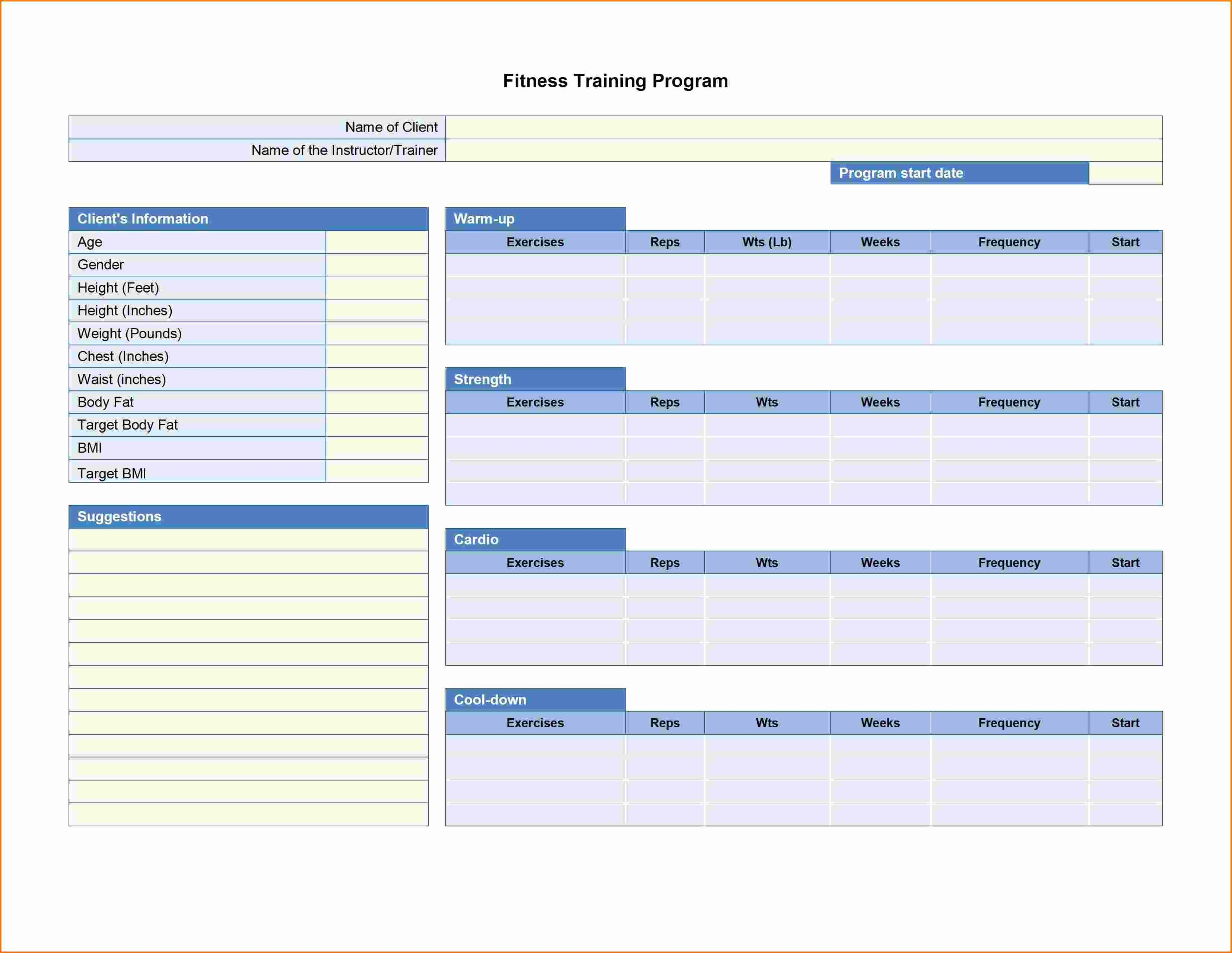 Training Agenda Template Microsoft Word Beautiful 5 Workout Plan Template
