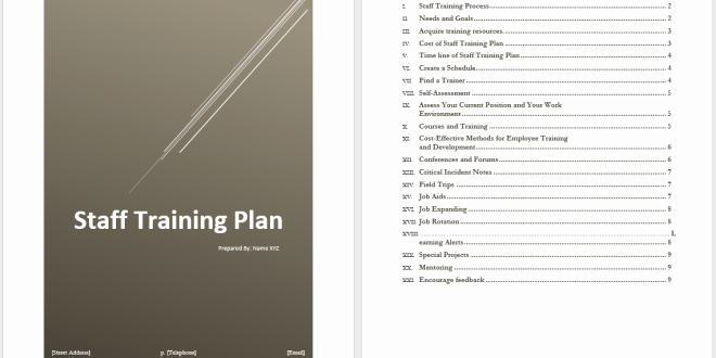 Training Agenda Template Microsoft Word Beautiful Staff Training Plan Template – Microsoft Word Templates