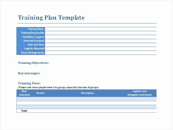 Training Agenda Template Microsoft Word Fresh 12 Sample Training Plans