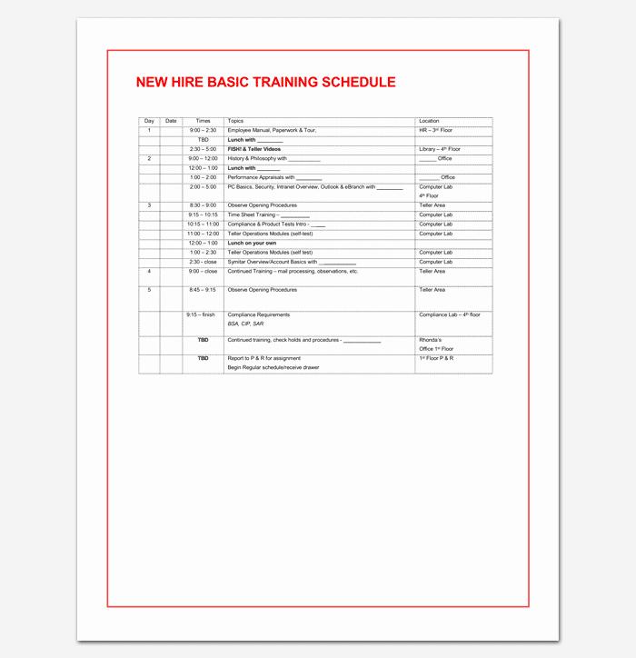 Training Agenda Template Microsoft Word Inspirational Training Agenda Template for Word Excel & Pdf