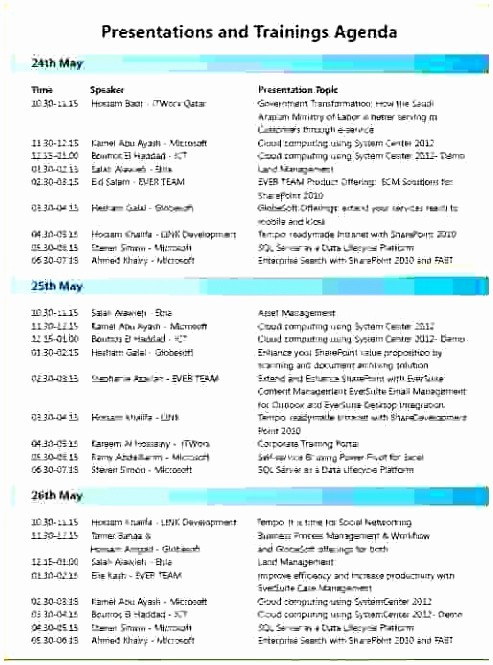 Training Agenda Template Microsoft Word Lovely 10 Sample Training Agenda Template Wirto