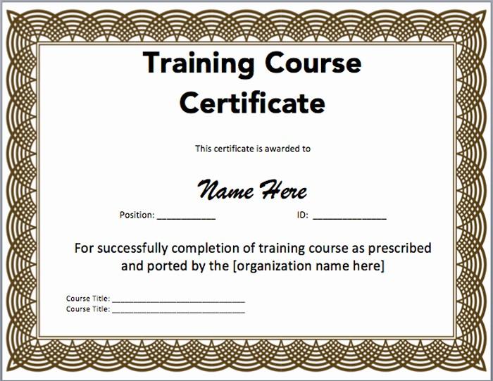 Training Certificate Template Free Download Awesome 15 Training Certificate Templates Free Download Designyep