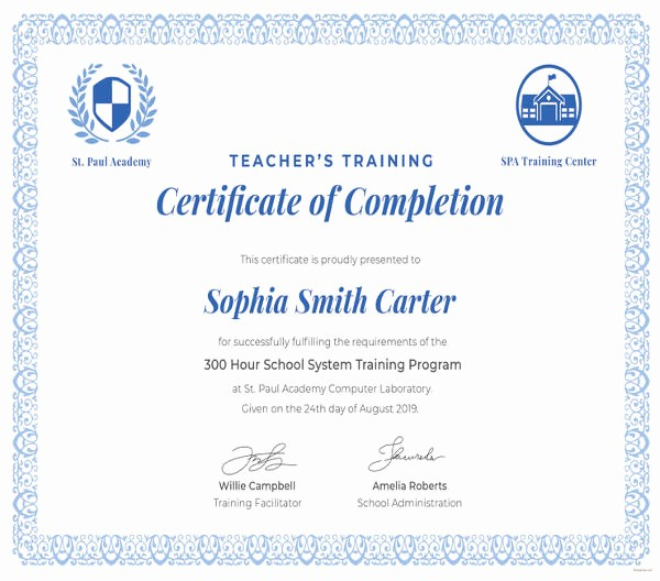 Training Certificate Template Free Download Awesome 82 Free Printable Certificate Template Examples In Pdf