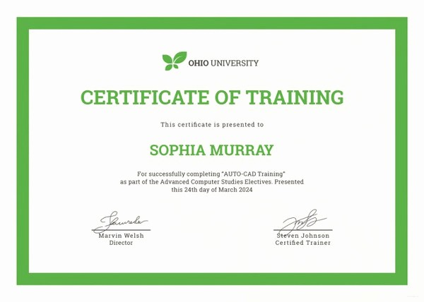 Training Certificate Template Free Download Elegant Training Certificate Template 27 Free Word Pdf Psd