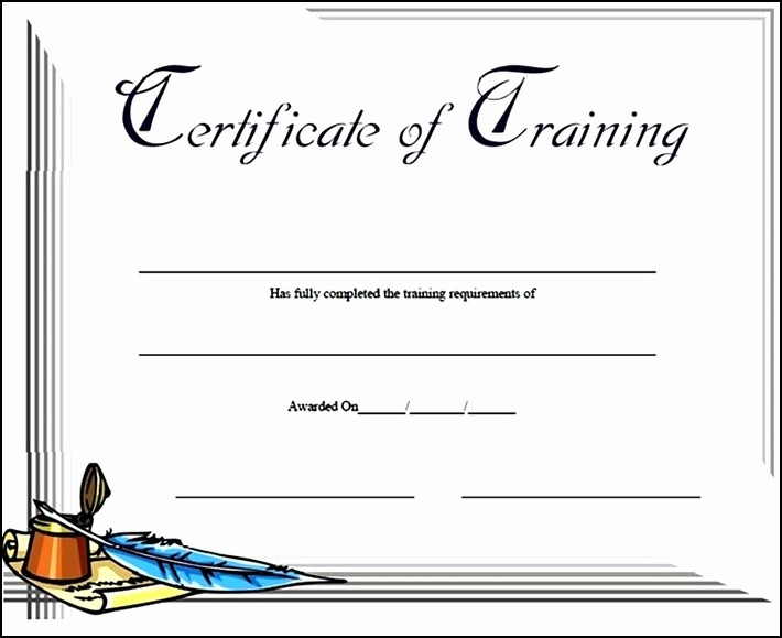 Training Certificate Template Free Download Fresh 15 Training Certificate Templates Free