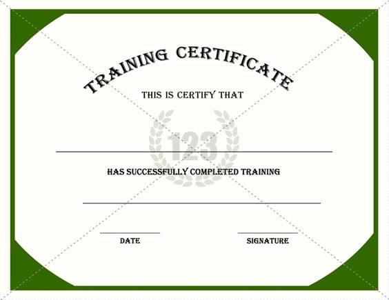 Training Certificate Template Free Download Inspirational Backgrounds Training Courses and Templates Free On Pinterest