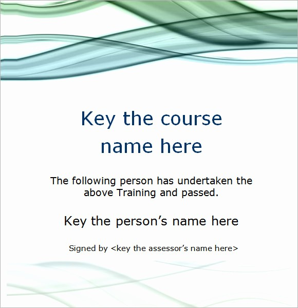 Training Certificate Template Free Download Luxury Sample Training Certificate Template 6 Documents In Psd
