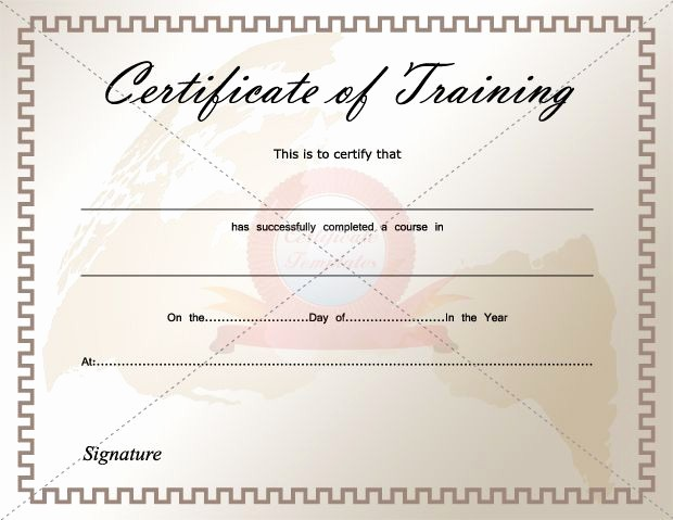 Training Certificate Template Free Download New Certificate Of Training