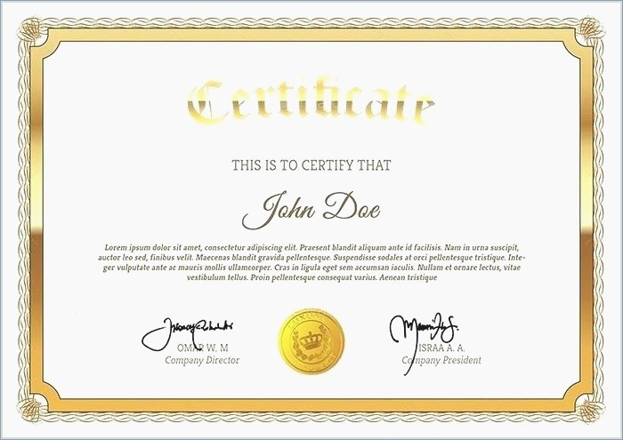 Training Certificate Template Free Download New Powerpoint Certificate Templates Free Download – Playitaway